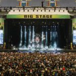 Big outdoor stage and audience
