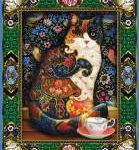 colorful cat tapestry