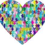 heart-shaped multi-color puzzle