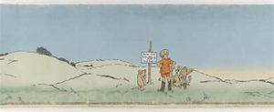 Christopher Robin and animals on North Pole expedition