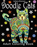 Cat coloring book; cat with elaborate green designs