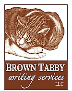 Cat on book cover: brown tabby writing services