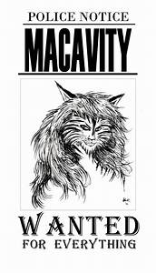 wanted poster of Macavity