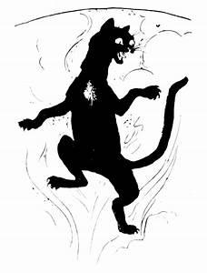 black agitated cat silhouette