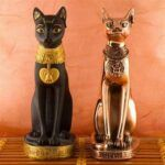 2 Egyptian cat statues