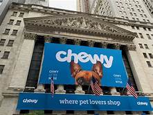 Chewy shop sign