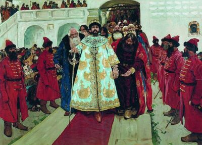 A Tsar and followers