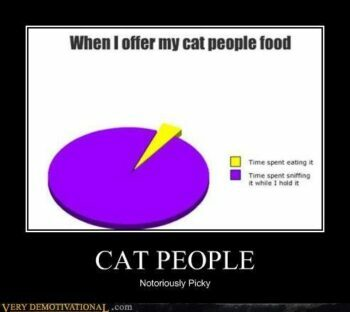 graph: When I offer my cat people food
