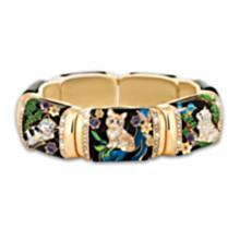 stretch link bracelet; 7 kittens