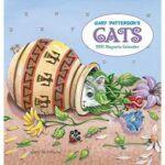 2021 calendar: Cat in jar with flowers