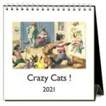 easel stand with crazy cat pictures