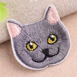 Embroidered cat patch